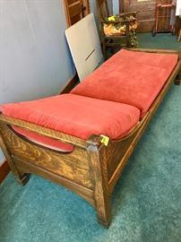Antique Golden Oak Day Bed
