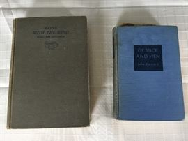 """Early Copies of """"Gone with The Wind"""" & """"Of Mice And Men""""                       https://ctbids.com/#!/description/share/22278"""
