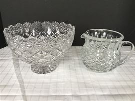 Cut Glass Pitcher & Bowl https://ctbids.com/#!/description/share/22279
