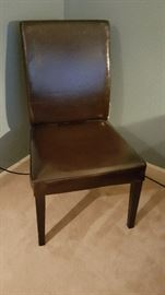 Leather chairs $30 each set of 2