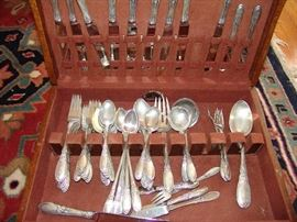"Set of sterling silver, Reed and Barton,  ""Tara"" pattern, 1955, active pattern"