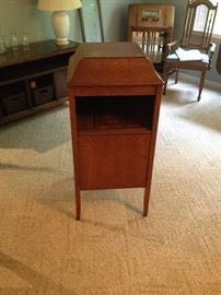 Antique Refinished Edison / Victrola Oak Upright Stereo Cabinet.  Very lovely!