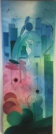 Surrealist Oil on Canvas Painting by Haitian artist Hugh Michel Berrouet