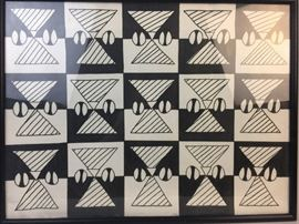 Op Art Geometric Abstract Marker on Paper
