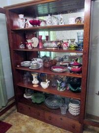Cabinet  w/2 doors CUSTOM MADE BY THIS DECEASED GENETLEMAN $225. All items in cabinet priced to sell.