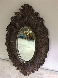 Reproduction oval small mirror