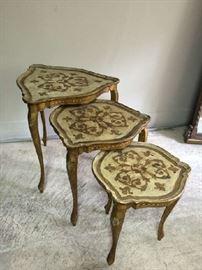Set of 3 Florentine nesting tables