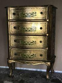 Small 4 drawer Florentine chest