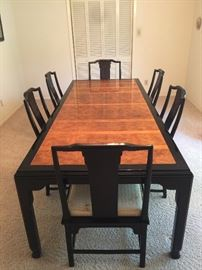 Chin Hua dining table and six chairs