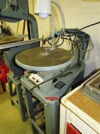 Delta scroll saw, with light attachment