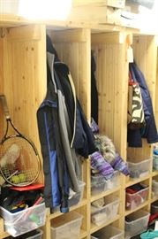 mudroom cubby storage (clothing is not for sale)