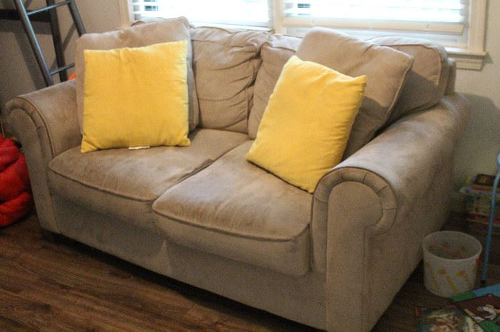 Microfiber love seat and sofa