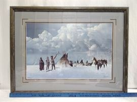 "Bill Jaxon ""Blessing the Lance"" Framed Print (1989)       https://ctbids.com/#!/description/share/24077"