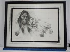 "Ozz Franca ""Young Brave"" Framed Print     https://ctbids.com/#!/description/share/24079"
