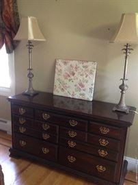 Dresser, Pair of Lamps