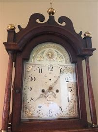 Antique English Grandfather clock.  This clock is magnificent, and would make a grand statement in any home.