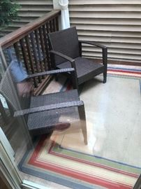 This is a photo of only part of the sunroom/porch/patio set (see additional photos).  There are immaculate cushions for all of the outdoor furniture.  Further descriptive details are in my summary.