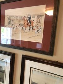 Original paintings by Frederick Tordoff (Hunt Scene)