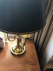 Solid brass desk lamp