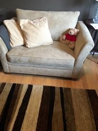 Single suede sofa/bed