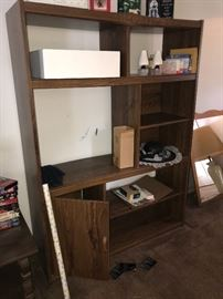 SMALL ENTERTAINMENT CENTER WITH STORAGE SPACE AND SHELVES