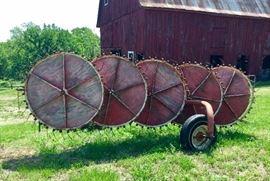 Vintage hay rake.