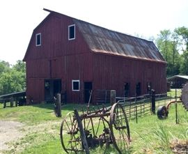 Antique farm implements straight from the old Red Barn!