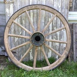 1860s cannon wheel - there are TWO of these! They are amazing, huge and heavy. Bring muscle to load.