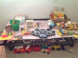 More toys, fire trucks, etc.