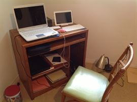 Computer desk, Sony laptop and Samsung pad.