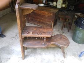 Leatherstocking bench with tools