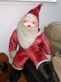 4 foot tall Santa plush fur , soft stuffing