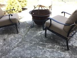 3 piece seating and separate fire pit
