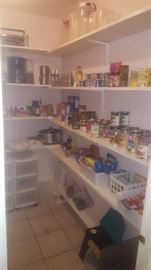 Canned goods and small kitchen items
