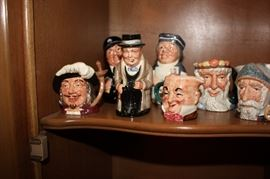 Collection of Toby mugs