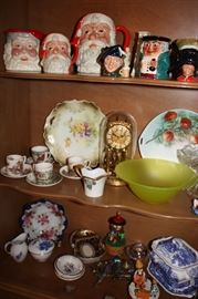 Lots of antique glass including Royal Doulton