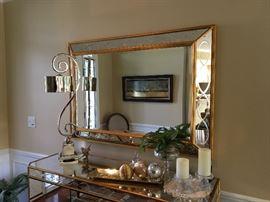 Matching Gilt Hall Mirror