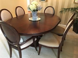 Dining Table and Chairs x 6