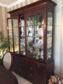 """Mirrored China cabinet w/ sliding doors """"Bob Mackie Home"""" collection, excellent condition"""
