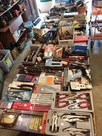 Pliers, staple guns, drill bits
