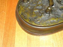 Signature of Pautrot on bronze horseman