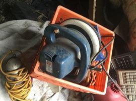 several plug in hand held lights $5; buffer (2)- $20 each neg.