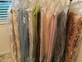 Variety of blankets, quilts, comforters, pillows; all cleaned and bagged
