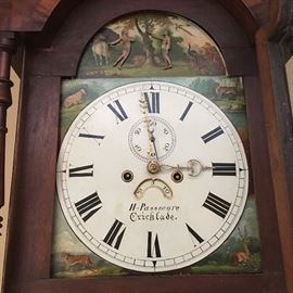 Lot #3 English tall case clock mid-19th c. 2200.00