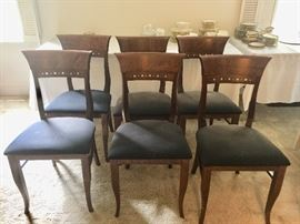 Vintage Italian made curved back chairs