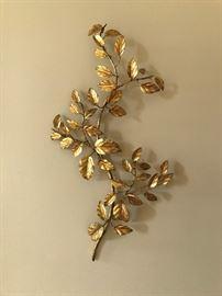 Italian Gold Leaf Wall Décor (approx. 3')  Heavy.
