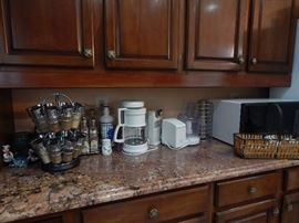Many kitchen items.