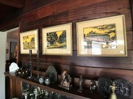 Lincoln Trail Signed Woodblock Prints