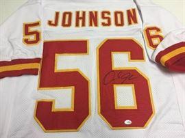 Signed Derrick Johnson Kansas City Chiefs #56 Cust ...