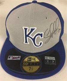 Signed Salvador Perez Kansas City Royals Fitted Ne ...